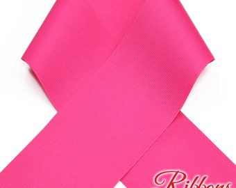 SHOCKING PINK - Grosgrain Ribbon  -  7 widths to choose from!  Ribbon for Hair Bows & Craft Projects
