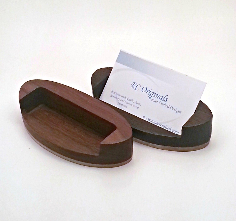 Modern Wood Business Card Holder