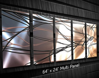 Silver Wire Modern Metal Wall Art Sculpture for Interior and Exterior