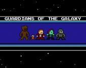 8-bit Guardians of the Galaxy MAGNET Megaman Style Comic Postcard Size Rocket Raccoon Groot
