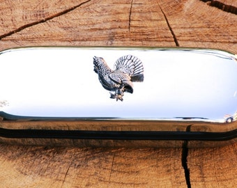 Capercaillie Metal Pen Case & Ball Point Set Personalised Engraved Gift