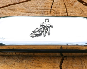 Speedway Metal Pen Case & Ball Point Set Personalisable Gift