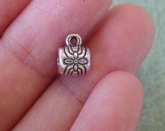 10 jewelry bails necklace charm bracelet bails tibetan silver antique style wholesale