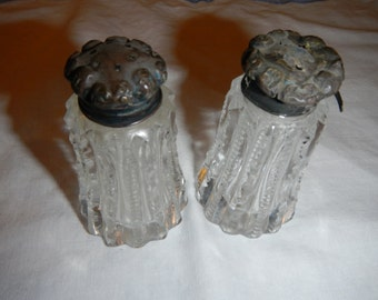 Antique Cut Glass Salt & Pepper Shakers