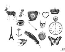 15  Whimiscal Assorted Vintage tattoos, Small tattoos, Vintage tattoos, Assorted tattoos, Body Art, Mixed tattoos, Wickedly Lovely Skin Art
