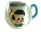 Vintage Pinocchio Disney Cup ~ Walt Disney Productions ~ Rare Disney Collectible
