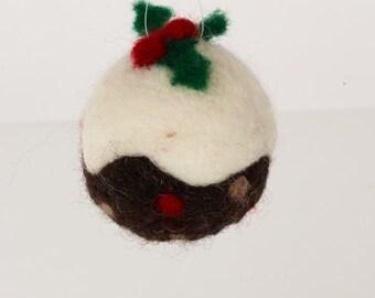 Christmas Pudding Bauble Needle Felting Kit
