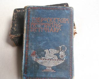 Very Old Book from 1888 - The Pocket Gem Pronouncing Dictionary