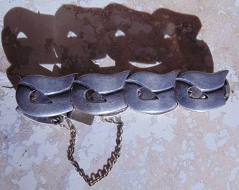 Serafin Moctezuma Taxco Sterling Signed Bracelet