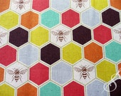 Echino Fabrics: Honeycomb with Bees