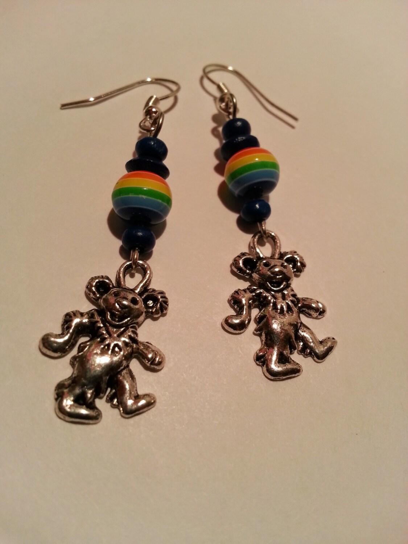 Dancing bear earrings-1913