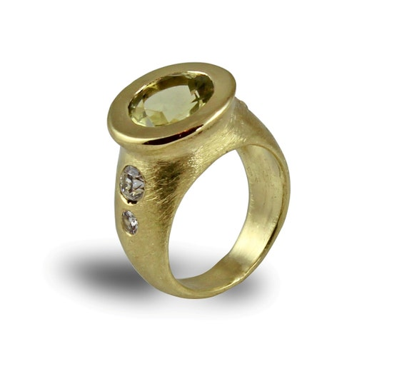 14k gold ringlemon quartz ringengagement ringslemon quartz