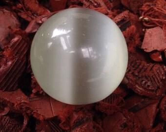 White Cat's Eye Sphere  40mm