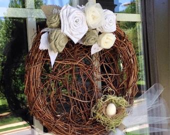 Grapevine Spring Wreath
