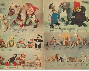 1954 Steiff catalog stuffed toys dogs dolls horses download