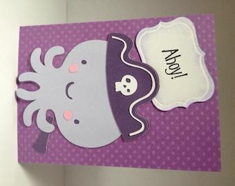 Handmade Octopus Birthday Card