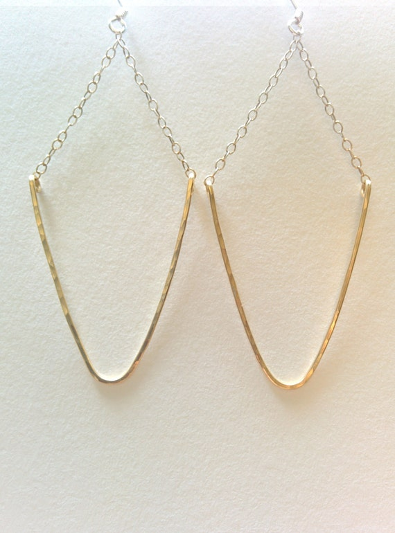 Parabola Earrings.  Available in Sterling Silver, 14K Gold or Mixed Metal.