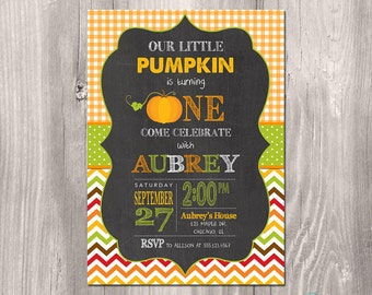 Pumpkin Patch Birthday Invitation - Fall Birthday Invitation - Printable Fall Invitation - Printable Pumpkin Invitation - Pumpkin Party