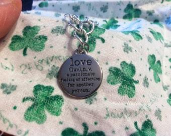 Women/Girls Love Definition Bracelet