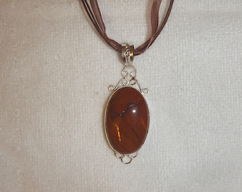 PAY IT FORWARD - Red-Brown Jasper pendant necklace (P132)