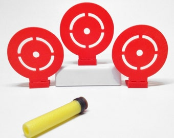 Flip Down Target (Set of 3) For Nerf Toy Foam Soft Dart Guns