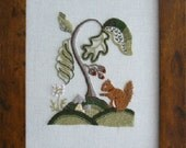 Woodland Squirrel Starter Crewel Embroidery Kit