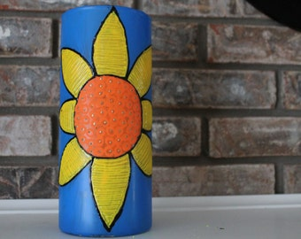 Colourful hand painted Vase
