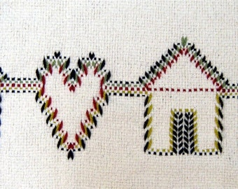 Home is Where the Heart is, Swedish weave digital pattern