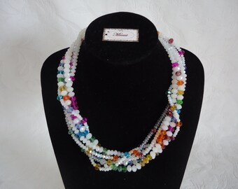 """MARITA"", model Rainbow necklace"