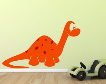 Kids Dinosaur Orange Wall Decal