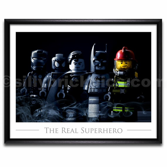 Gift Ideas Real Log Style: LEGO® Superheroes Style Fireman Firefighter By SillyBrickPics