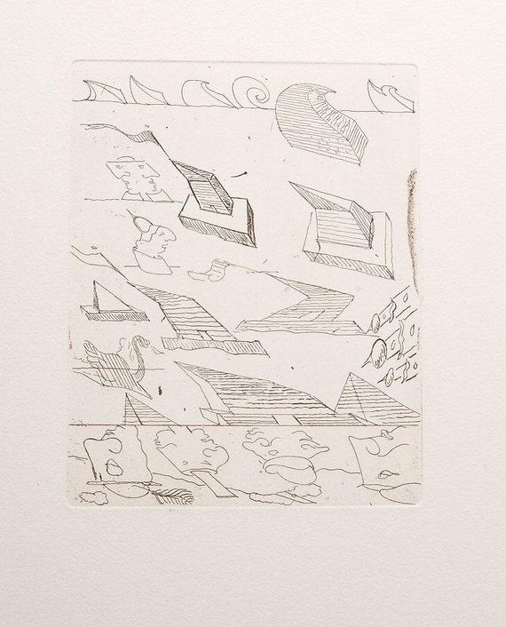 stefan wewerka original limited edition by valuevintageprints. Black Bedroom Furniture Sets. Home Design Ideas