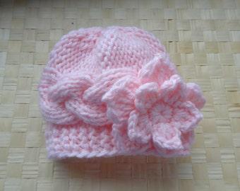 Baby Hat, Baby Girl Hat Newborn Hat Photo Prop, Baby Knit Hat Girl Knit Hat, Infant Hat Newborn Baby Girl Hat, Baby Girl Newborn Hat,