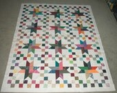Ribbon Star Scrappy Quilt Pattern