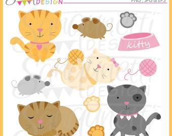 Cat clipart, cat clip art, kitten clipart, animal clipart, kitty clipart, instant download