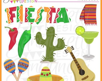 Cinco De Mayo Fiesta Party Clipart Commerical License includedZarape Clipart