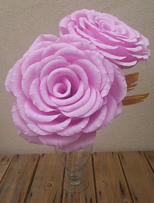 riesen gro e rose farbe krepp papier blume rose hochzeit. Black Bedroom Furniture Sets. Home Design Ideas