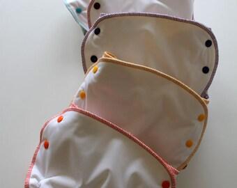 5 AIO Certified Organic Hemp/Cotton Cloth Diaper Size 2