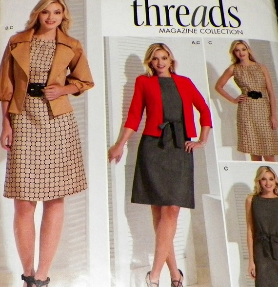 Dress Sewing Pattern With Jacket And Knit by sewprettypatterns