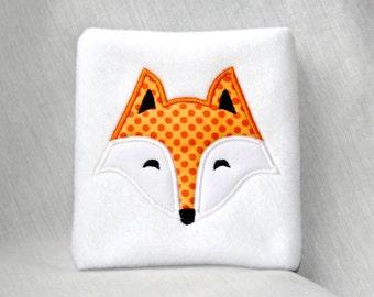 Fox Face Applique Machine Embroidery Design 4x4 5x7 6x10 Modern Cute Woodland Animal