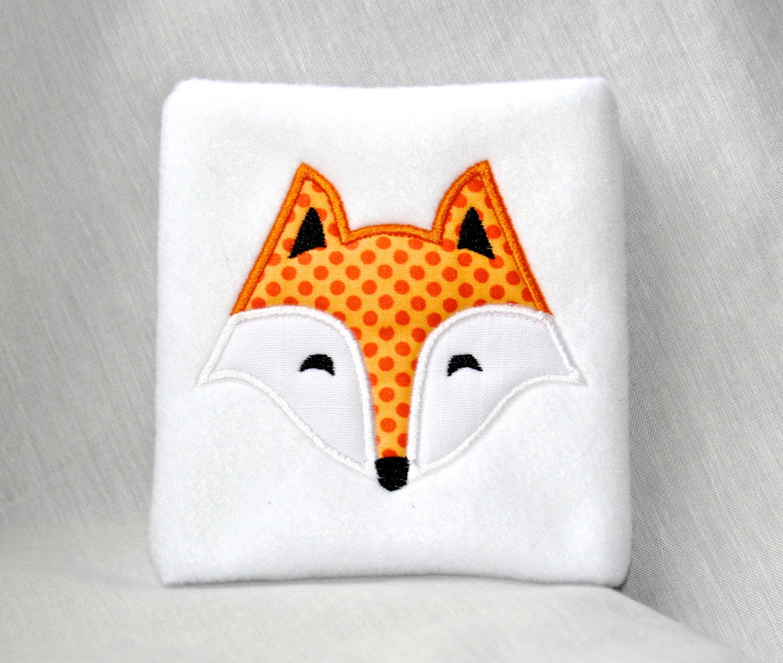 fox face applique machine embroidery design 4x4 5x7 6x10. Black Bedroom Furniture Sets. Home Design Ideas