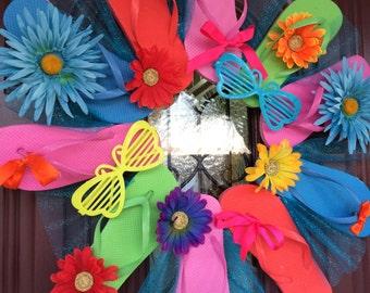 Summer Lovin' Handmade Flip Flop Wreath