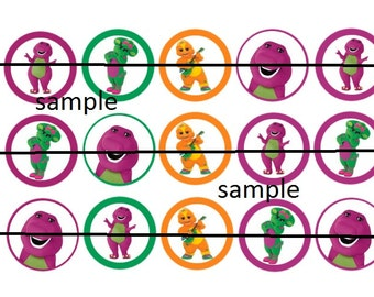 "Barney & Friends  15 - 1"" Bottle Cap Images,Digital Collage Sheet,  cupcake toppers, stickers, party decorations INSTANT DOWNLOAD"