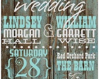 Rustic Barn Wood Barnwood Wedding Invitations