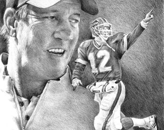 "Jim Kelly V.2 Print Limited Edition Signed and Numbered by the Artist 11""x14"""