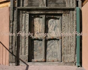 Fine Art Carved Door at Santa Fe