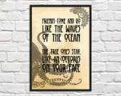 SALE - Steampunk Art Print Poster - Octopus on your Face - Wall Decor, Inspirational Print, Home Decor, Gift