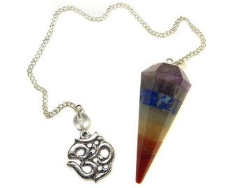 Layered Chakra & Fancy OM Pendulum [#297]