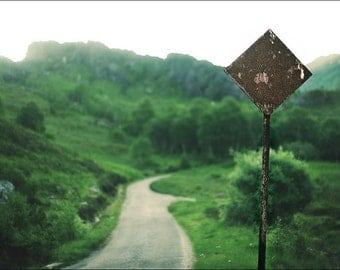 Way To Leave, original fine art photography, print, landscape, road, 8x12, path, highland, scotland, mountain, wood, forest, glen nevis