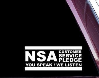 NSA Customer Service Pledge (A-0053)